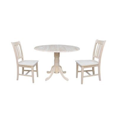 Cherokee 3 Piece Drop Leaf Dining Set Color: Unfinished