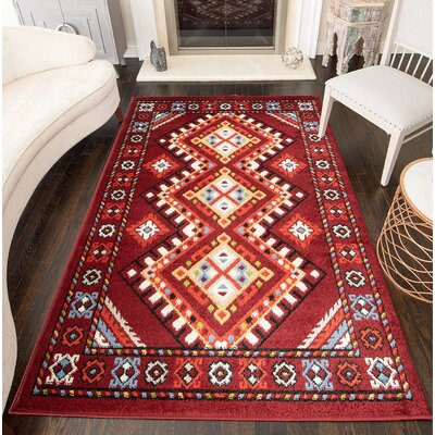 Oyler Tribal Rust Area Rug Rug Size: Rectangle 5 x 7