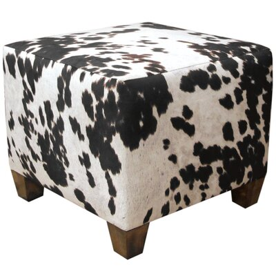 Ponca City Cube Ottoman Upholstery: Udder Madness Domino