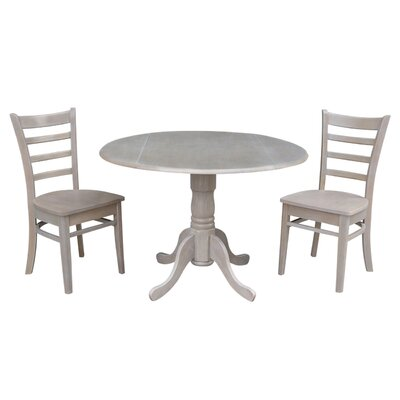 Broken Arrow 3 Piece Bistro Set Color: Weathered Gray