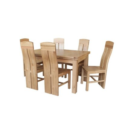 Pecor 7 Piece Extendable Dining Set Color: Natural Oak