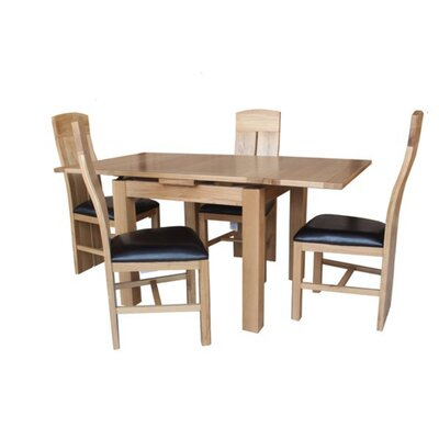 Pecor 5 Piece Dining Set Color: Natural Oak