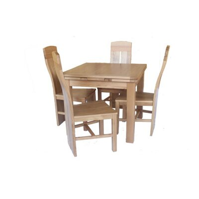 Pecor 5 Piece Extendable Dining Set Color: Light Dark Oak