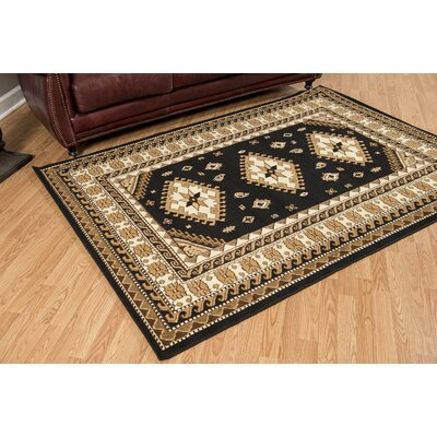 Juana Black/Brown Area Rug Rug Size: 53 x 72