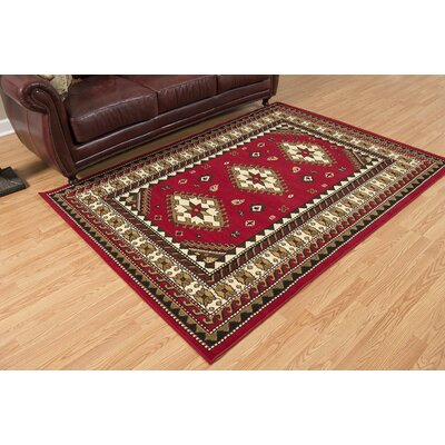 Juana Red Area Rug Rug Size: 111 x 33