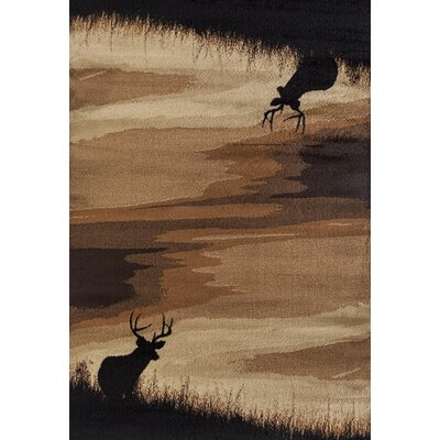 Pippen Hazy Distance Brown/Beige/Black Area Rug Rug Size: Rectangle 53 x 72