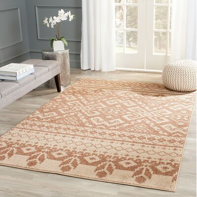 St. Ann Highlands Camel/Chocolate Area Rug Rug Size: Rectangle 4 x 6