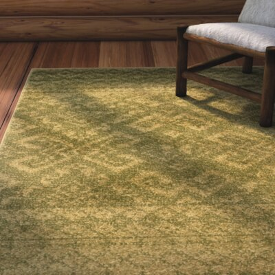 St. Ann Highlands Olive Green Area Rug Rug Size: Rectangle 4 x 6