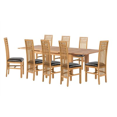 Pedraza 9 Piece Extendable Dining Set Color: Natural Oak