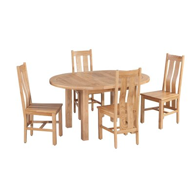 Ransom 5 Piece Extendable Breakfast Nook Dining Set Color: Light Dark Oak