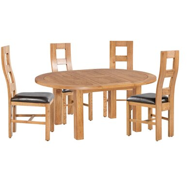Carbajal 5 Piece Breakfast Nook Dining Set Color: Light Dark Oak