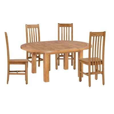 Covarrubias 5 Piece Extendable Breakfast Nook Dining Set Color: Light Dark Oak