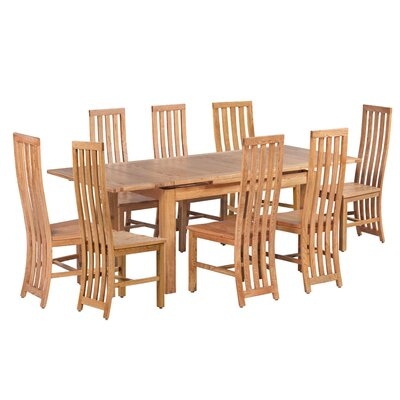 Arreola 9 Piece Extendable Dining Set Color: Light Dark Oak