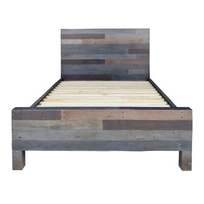Vintage Platform Bed Size: King