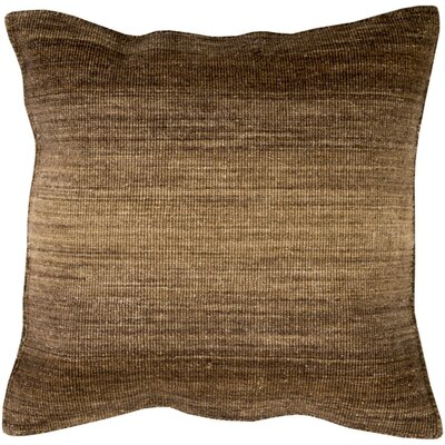 Cortes Wool Throw Pillow Size: 20 H x 20 W x 4 D, Color: Chocolate