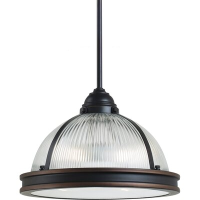 Denton 2-Light Pendant Bulb Type: 75 W A-19 Medium, Finish: Autumn Bronze