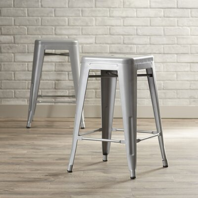 Delavan 24 inch Bar Stool Finish: Silver
