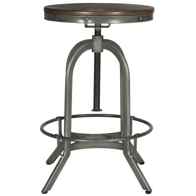 King City Bar Stool Upholstery: Weathered Oak