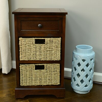Ardina 1 Drawer End Table Color: Walnut