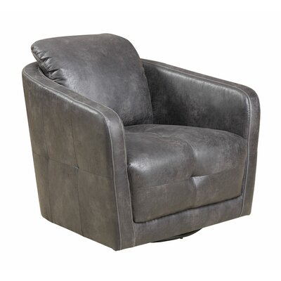 Roanoke Swivel Armchair Upholstery: Palance Steel TADN1575 25715524