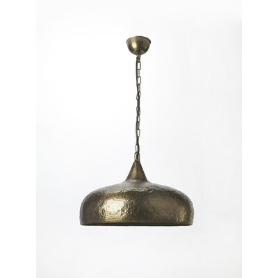 Rosalba 1-Light Nickel Bowl Pendant