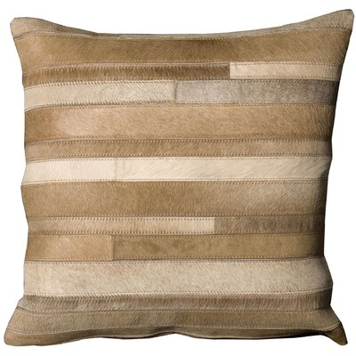 Barbi Leather Throw Pillow Color: Beige, Size: 20 x 20