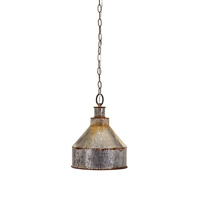 Rogers Galvanized 1-Light Mini Pendant