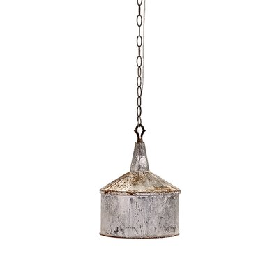 Norman Galvanized 1-Light Mini Pendant