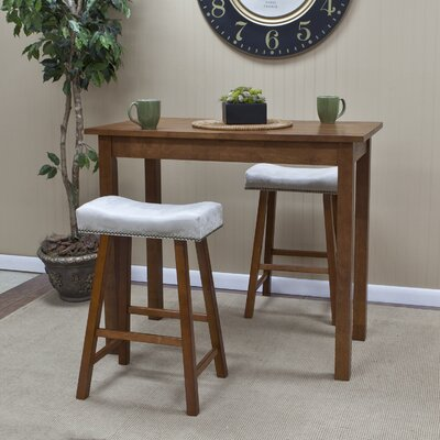 Gilpatrick Counter Height Dining Table Color: Walnut