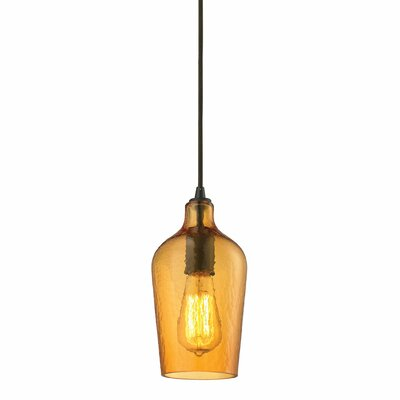 Rancho Mirage 1-Light Mini Pendant Shade Color: Amber