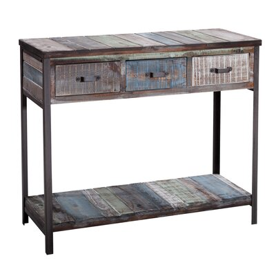 Clayera Console Table Finish: Blue