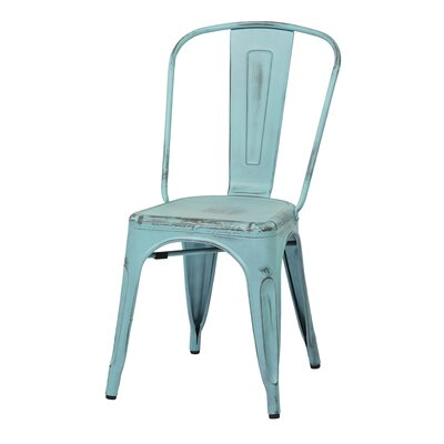 Fineview Dining Side Chair Finish: Antique Sky Blue