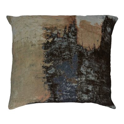 Tahara Brushstrokes Velvet Throw Pillow