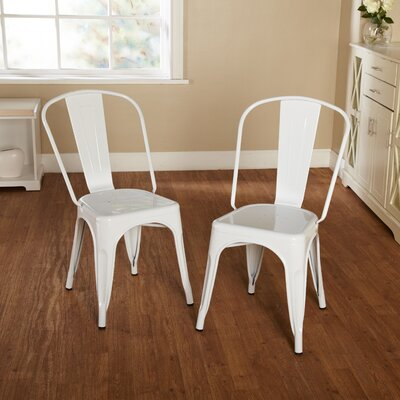 Kunkle Stackable Side Chair Finish: White