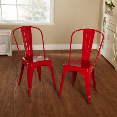 Kunkle Stackable Side Chair Finish: Red
