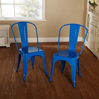 Kunkle Stackable Side Chair Finish: Blue