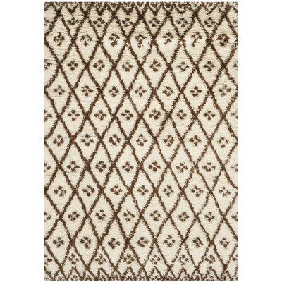 Sheridan Tan/Brown Area Rug Rug Size: 4 x 6