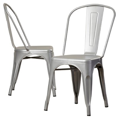Kunkle Stackable Side Chair Finish: Silver
