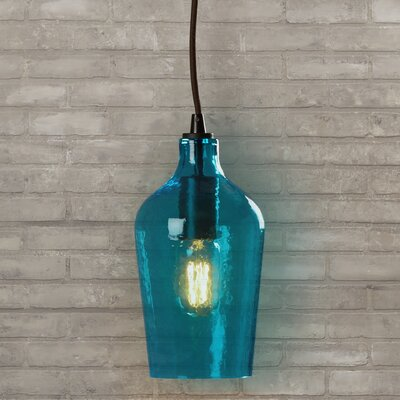 Rancho Mirage 1-Light Mini Pendant Shade Color: Aqua