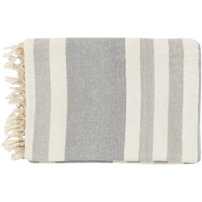 Tincup 100% Cotton Throw Color: Gray