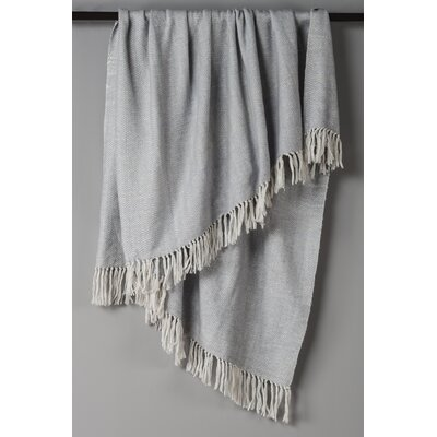 Croftwood Cotton Throw Color: Silver/White