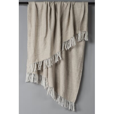 Croftwood Cotton Throw Color: Natural/White