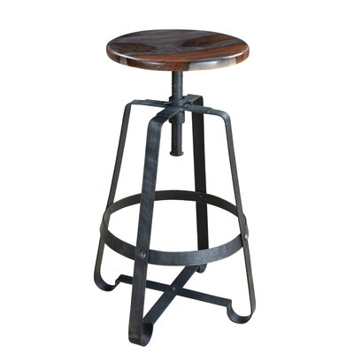 Shalanda Adjustable Height Swivel Bar Stool