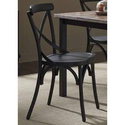 South Gate Side Chair (Set of 2) Finish: Black