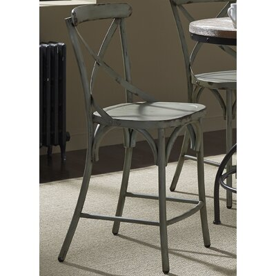 South Gate 41 Bar Stool (Set of 2) Finish: Green
