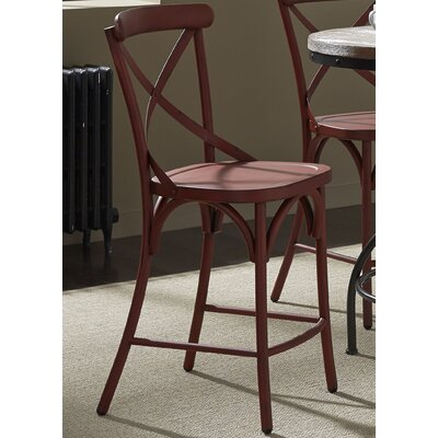 South Gate 41 Bar Stool (Set of 2) Finish: Red