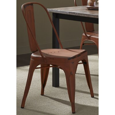 South Gate Side Chair Set (Set of 2) Finish: Orange