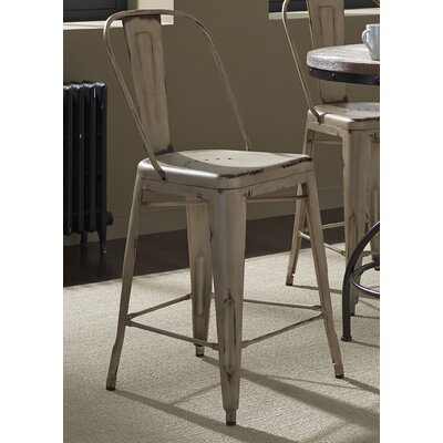 South Gate 26 Bar Stool (Set of 2) Finish: White