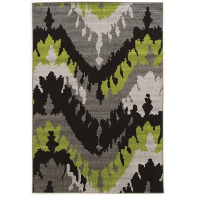 Thorton Black/Grey Area Rug Rug Size: Rectangle 2' x 3'