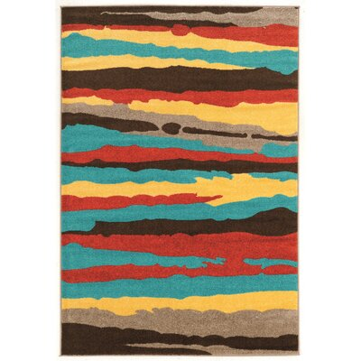 Thorton Turquoise Area Rug Rug Size: Rectangle 5 x 7